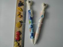 cartoon plasitc ballpoint pen for school/office/ laboratory
