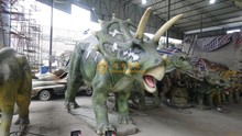 Dino park real lines soft sense of touch life size animatronic dinosaur