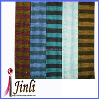 Various colors knitted striped 100 silk short necktie