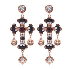 Beaded earrings epoxy resin jewelry fancy costume jewelry