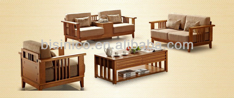 morden holz sofa mit kissen sitz liebe voller massivholz sofa w couchtisch komfortable. Black Bedroom Furniture Sets. Home Design Ideas