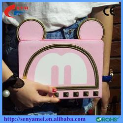 Cute Smart Flip PU Leather Case For iPad 2 3 4 5 6