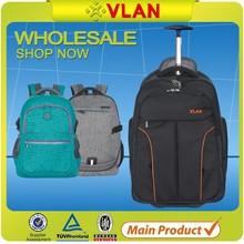 waterproof laptop trolley backpack with wheels