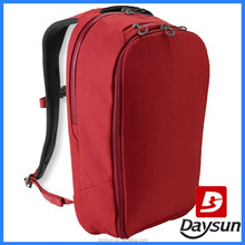 Dark red polyester professional computer backpack for girls