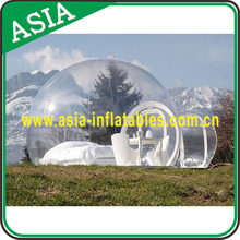 Outdoor Champing Bubble Tent Clear Inflatable Lawn Tent, Large inflatable transparent tent inflatable bubble tent for sale