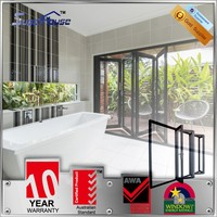 10 years warranty energy saving big vision Australian AS2047/As2208 standard aluminum folding door/bi folding door