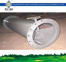 Tubular static mixer for wastewater treatment