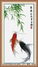 HOT SALE LUCKY FISH 5D CRYSTAL DIAMOND PAINTING, FISH PAINTING ON CANVAS WALL PICTURE