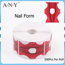 ANY Dual Form Nail System Shaper 500 Pcs Paper Nail Form
