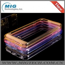 Transparent mobile phone case for iphone 6 for iphone6 case , frosted mobile phone cover at the top and bottom 5 colors