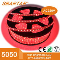 Super Bright Flexible 60PCS Per Meter 5050SMD LED Strip Light Red