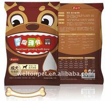 4''Crooked-Shape Roast Beef Flavor Teeth-Grinding Bone Pet Food