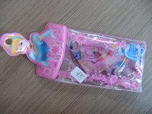 PVC cartoon princess zipper pen bag stationery set