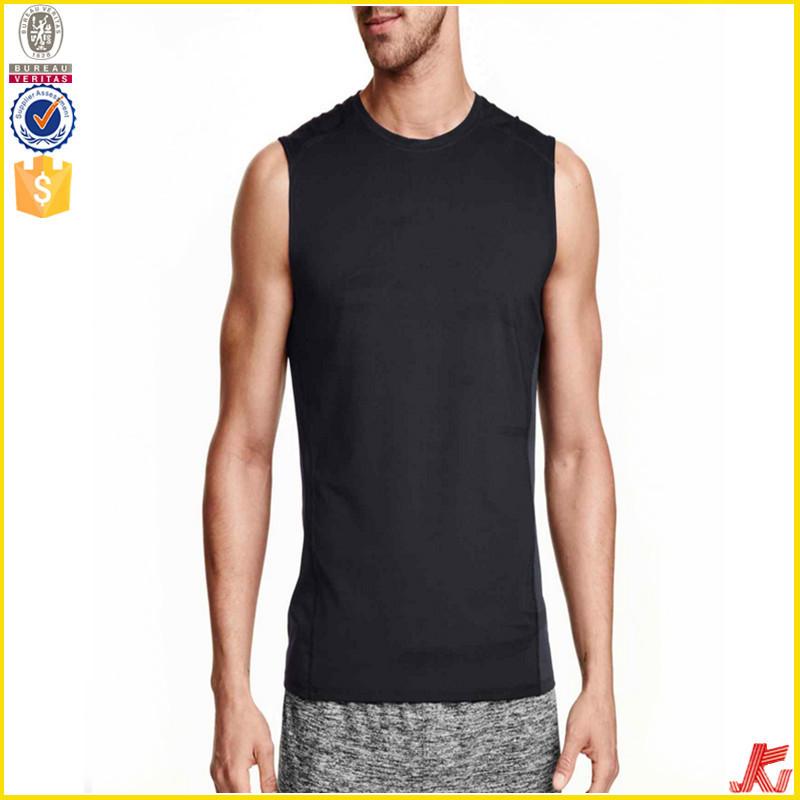 Wholesale New Design Men 39 S Sleeveless Blank Black T Shirt