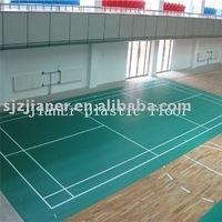 Foamed pvc vinyl sports floorings for badminton court