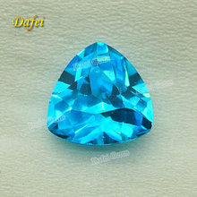 Trillion Synthetic Faceted Aquamarine Stone For Earring