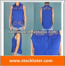 La moda de valores sexy blusa de la parte superior de la liquidación, 130810(2)