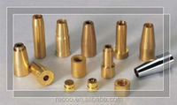 Factory price custom high precise nickel plated brass sensor shell