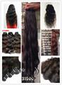 Mojado y ondulado indio no remy de la virgen de la armadura del pelo caliente venta de las extensiones del pelo humano