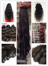 Wet and wavy Indian non-remy virgin hair weave hot selling virgin indian human hair extensions