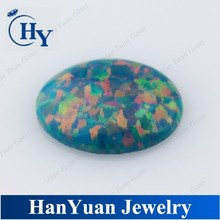 Oval Shape Cabochon Synthetic Fire Opal For Decoration