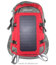 Soft and portable solar backpack for loptop camping bag