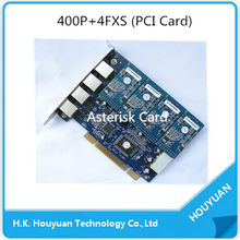 PCI Card ,400P Digium Card System,AX400P can up to 4 ports Analog FXS/FXO module