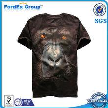3D T-Shirt animales de los hombres calientes de la nueva manera de sólido de manga corta camisetas gorila 3D