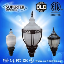 DLC ETL CE certificate 5 years warranty 40w-100w IP65 LED Post Top Fixtures