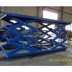5T hydraulic scissor lifting