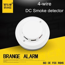 4 Wire Wired Smoke Detector for Fire Alarm System panel DC12V