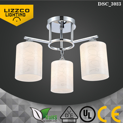 240V Top Quality Sliver Color Glass Shade Ceiling Lamp