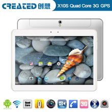 Created X10S 10.1 inch tablet pc MTK8382 Quad core 1.2GHz 1g ram gps tablet wifi android 4.4 support 3G phone call dual sim