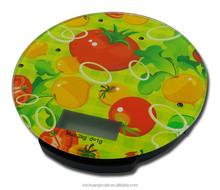 2 KG trempé verre vert impression numérique de cuisine électronique balance ( K09-15 )