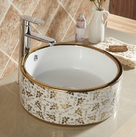 E2020-02 counter top wash basin types of lavatory round