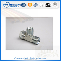 pipe fitting names and parts thread adjustable stud ends with o-ring sealing run tee