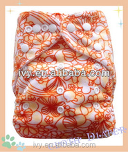 Printed papoose baby cloth nappies diapers reusable diaper aio