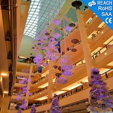 Stars/flower ceiling hanging decorations,led crystal light