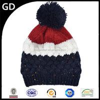 GDG1842 New style popular girl head wool warm custom patch winter beanies hat