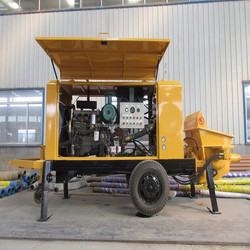 mobile pumping concrete equipment with advanced configuration and reasonable price China supplier
