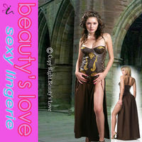 Sexy halloween costumes OEM Sexy fancy dress Sexy brown Slave cheap princess costumes