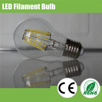 Globe hot sell dimmable led filament bulb, 2W 4W 6W 8W e27 long lifespan 3 years warranty