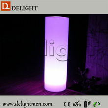 Top sale glow up plastic 16 color changing rechargeable column led