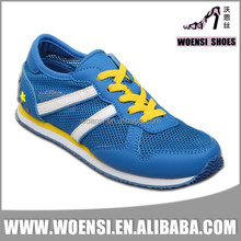 new arrival style female elegant trendy blue color mesh breathable training sports shoes