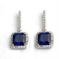 Precious crystal earring with sapphire price per carat earring imported from zirconia earrings