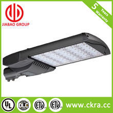led street light with UL ETL DLC listing qualified with lamp pole adaptor post 2.4 inch to 4 inch with photocell grey finish