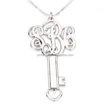 Natual Design Jewelry Initials Key Monogram Necklace