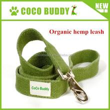 Wholesale hypoallergenic solid hemp Organic retractable pet dog leash