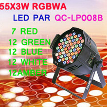 55x3W rgbaw led par light 3 w stage light dj party
