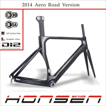 2014 New FM055 Full Carbon Aero Road Bike Frame&fork&seatpost Carbon Bicycle Frameset HM055